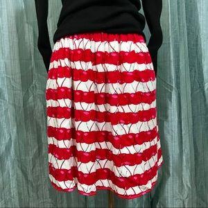 Cynthia Rowley cherry skirt